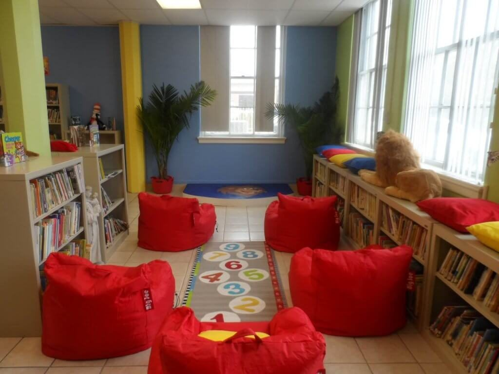 Storytime area of library