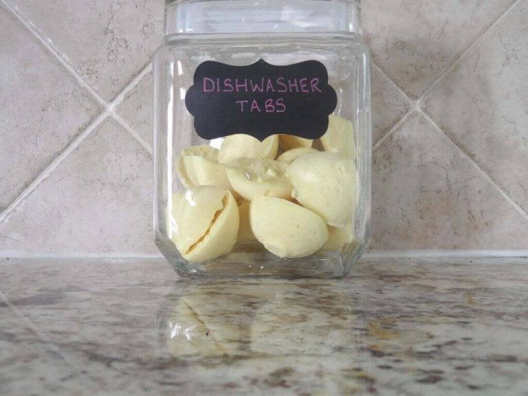 Finally!  My Magic Formula for Homemade Dishwasher Tabs!