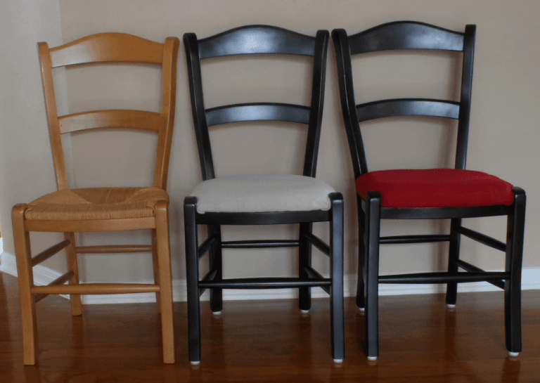 How to Makeover a Rush Cane Chair