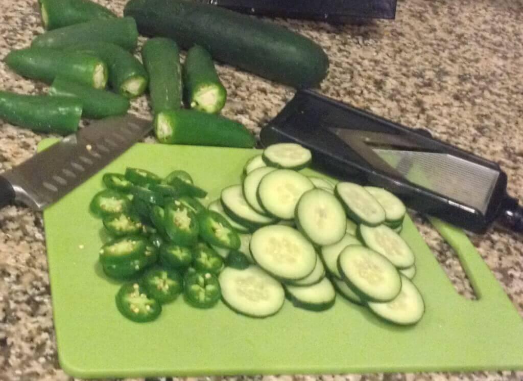 Fresh Cucumbers & Jalapenos