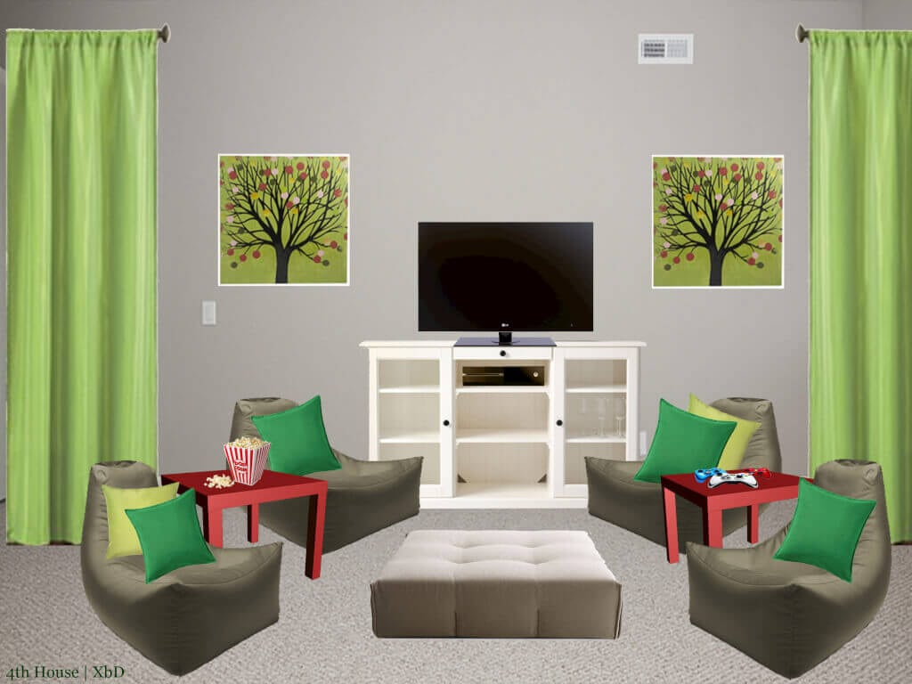 Designing a kids room 4th house on the right for Kids media room