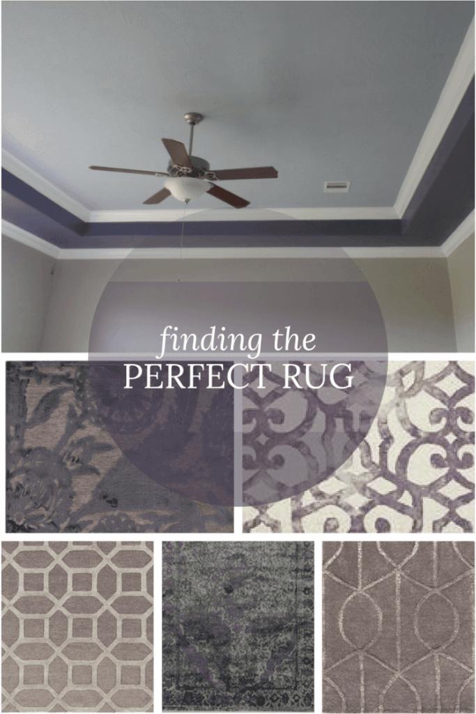 Deciding on textiles - the rug