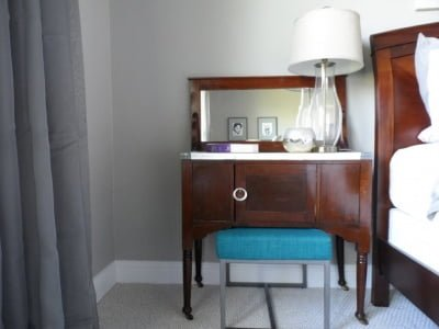 Antique Sewing Table with Marble Tile top