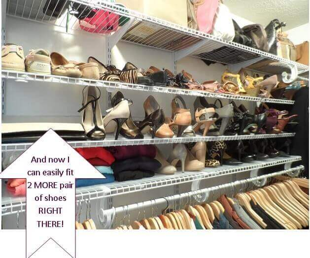 Shoe Organization Quick Tip To Help You Store (& Buy) More