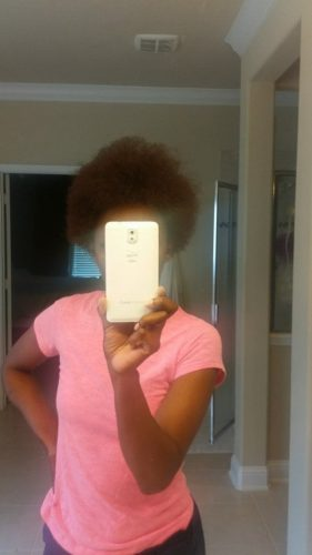 Dry thirsty afro