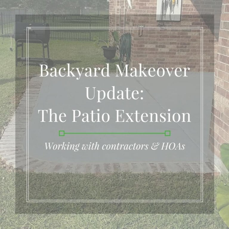 Backyard Makeover Update: The Patio Extension