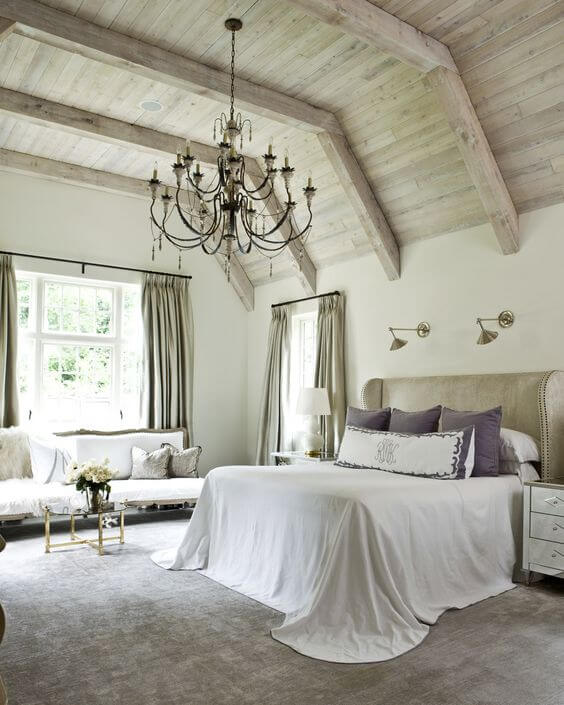 Soothing & relaxing bedroom with a splash of purple