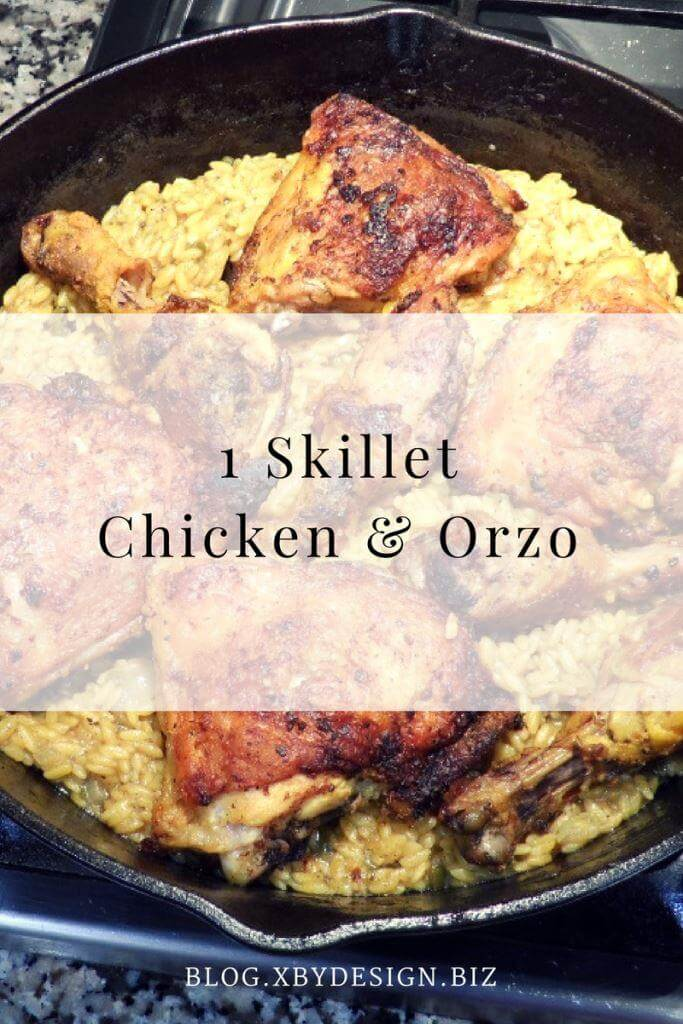 1 Skillet Chicken & Orzo