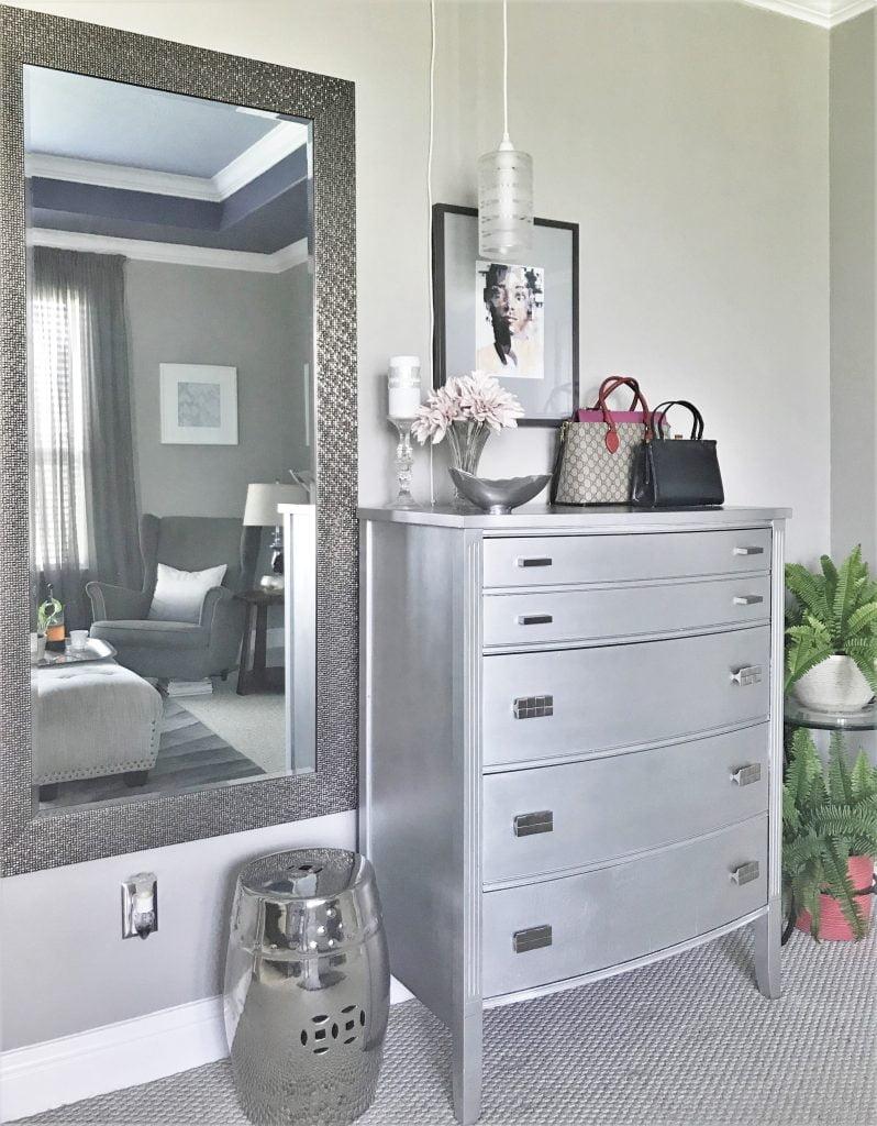 Refinished High Boy Dresser