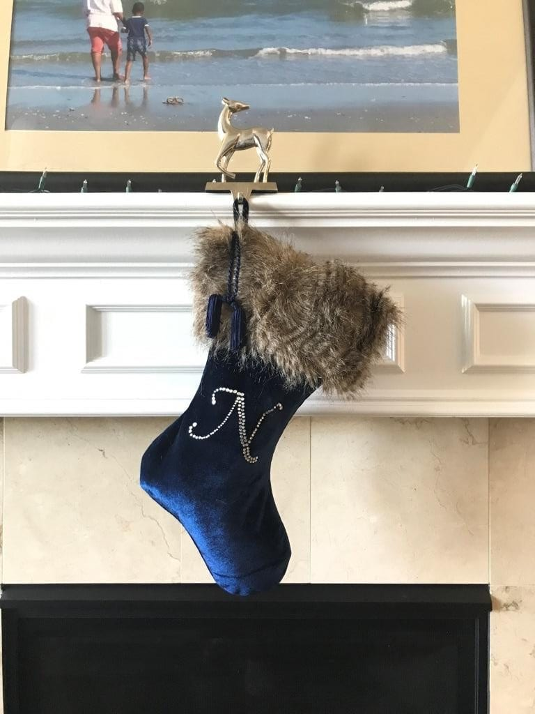 DIY Faux Fur Trimmed Christmas Stocking