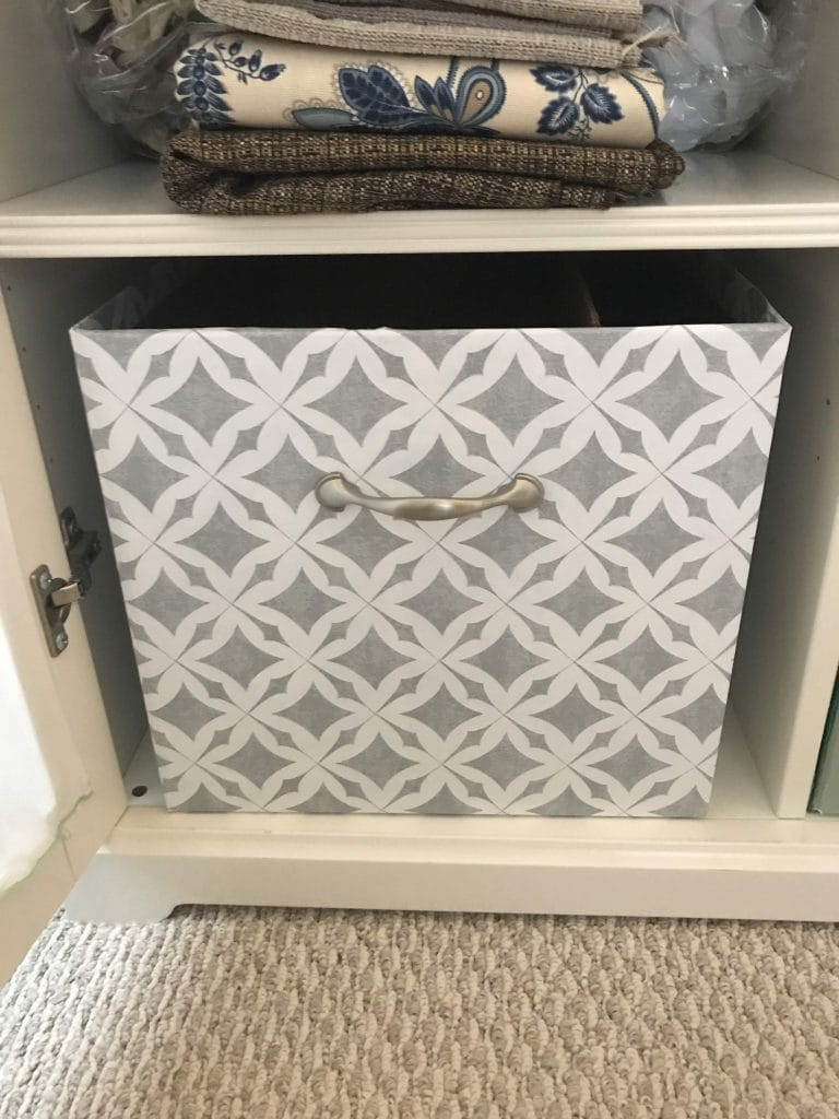 My finished DIY custom storage box