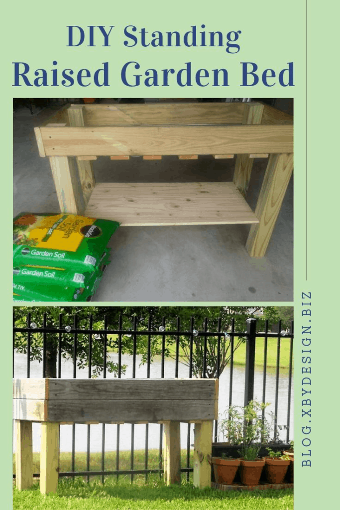 DIY Standing Garden Bed, Elevated Garden Bed