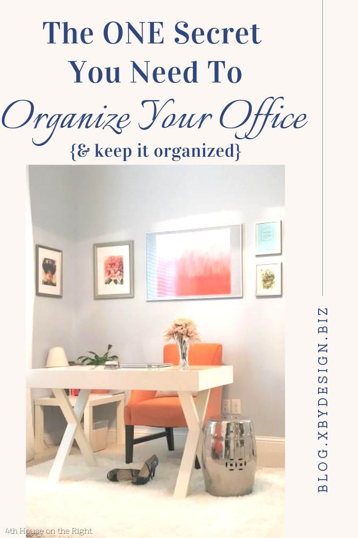 The secret to an organized office