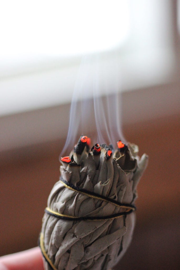 Cleanse your home regularly.  Burn sage, dried bay leaves, or incense.