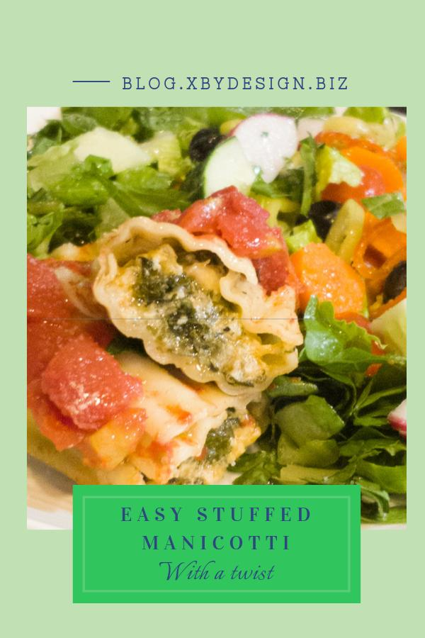 Easy stuffed manicotti with a twist