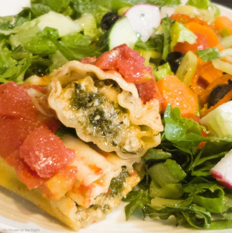 Chicken & Kale Stuffed Manicotti