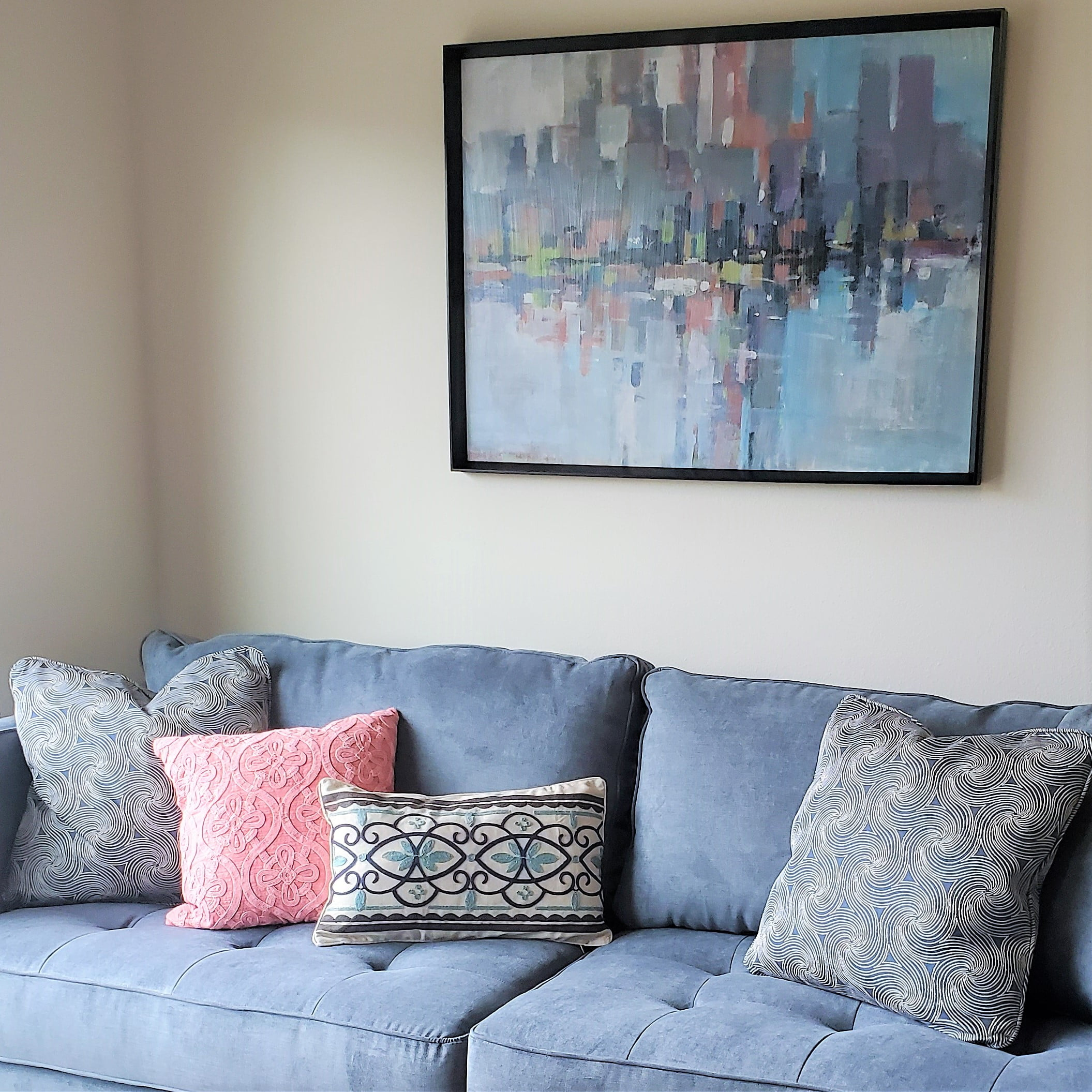 Large scale sofa in a small apartment