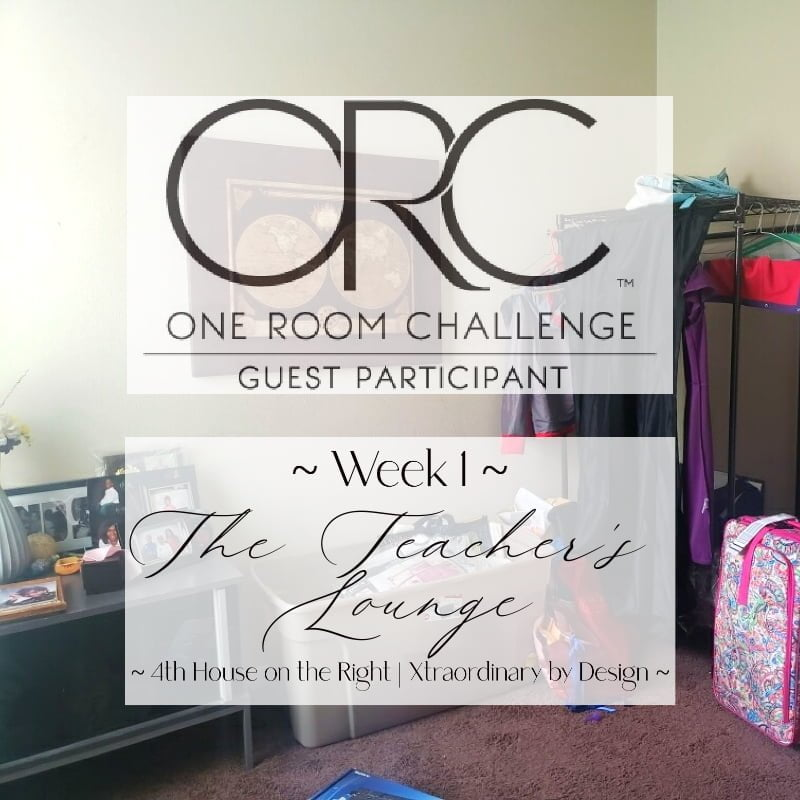 One Room Challenge Week 1 - The Teacher's Lounge