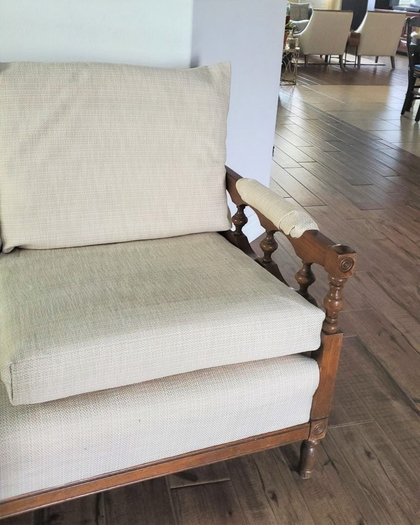 DIY no-sew upholstery project