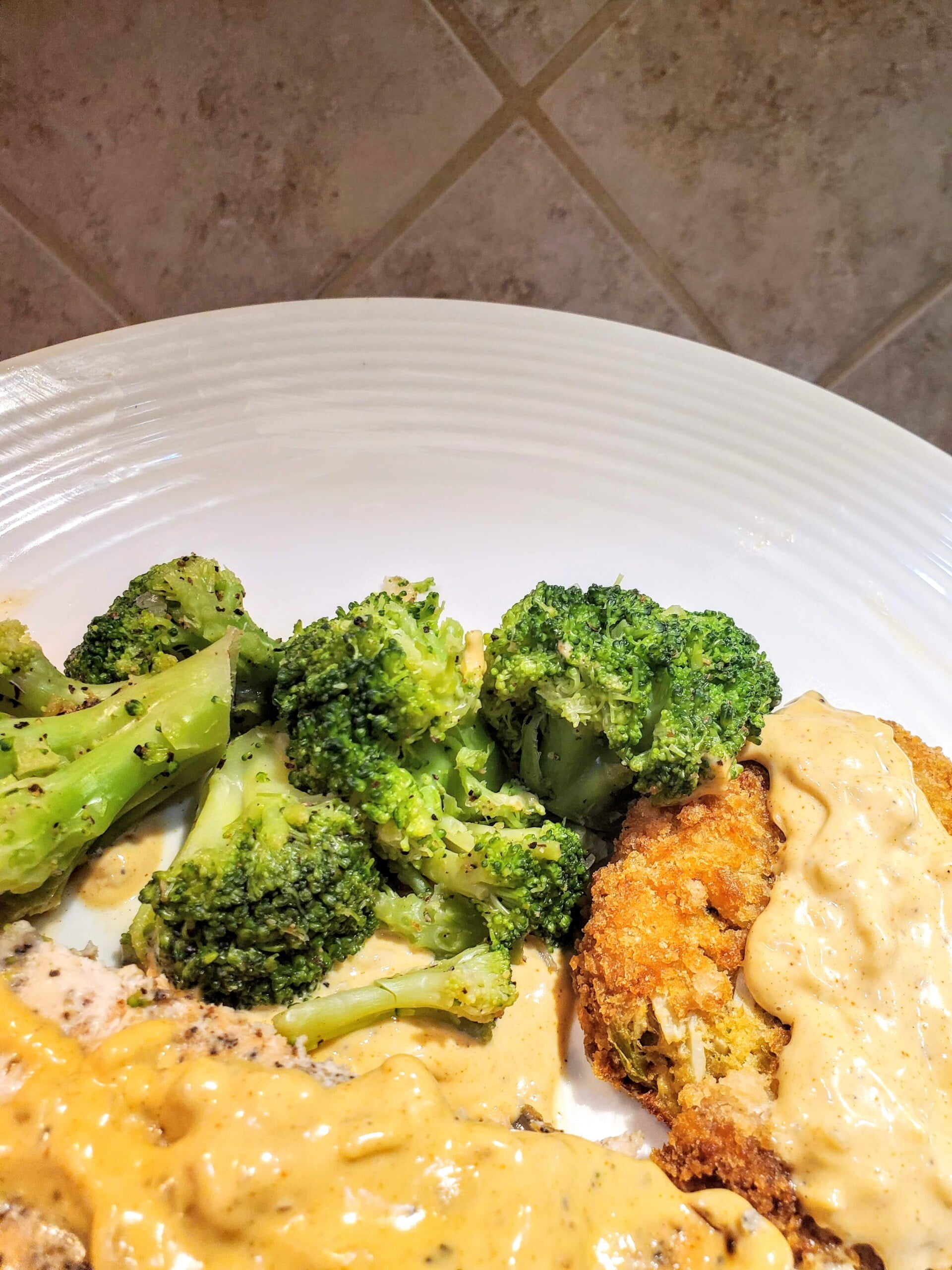 Crab cakes & salmon with easy homemade remoulade sauce