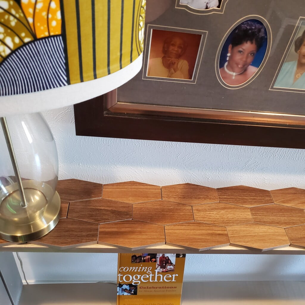 Custom console table top close up