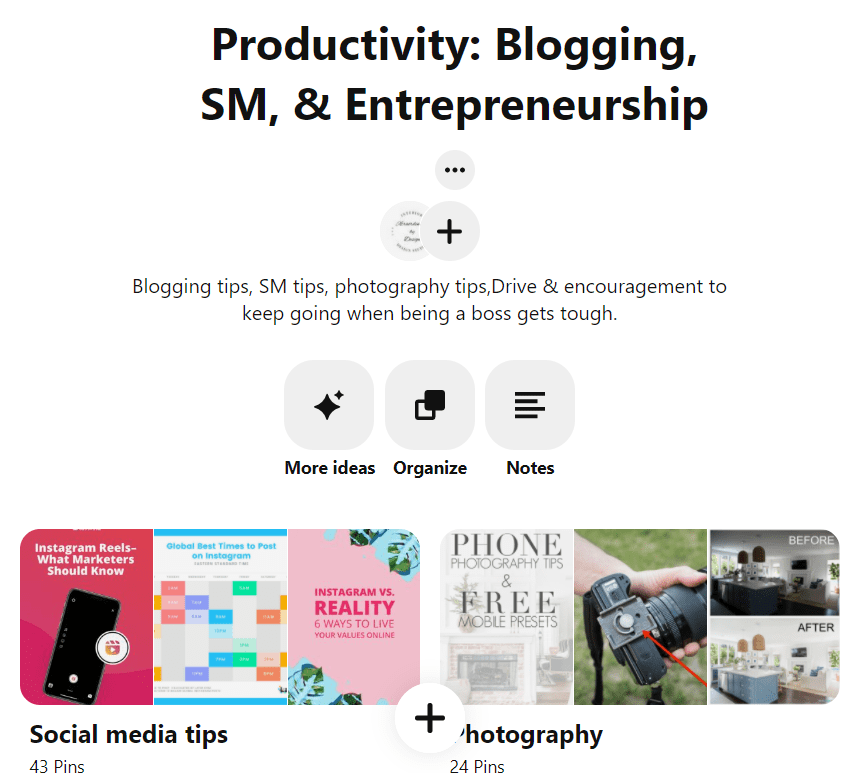 Productivity Pinterest Board