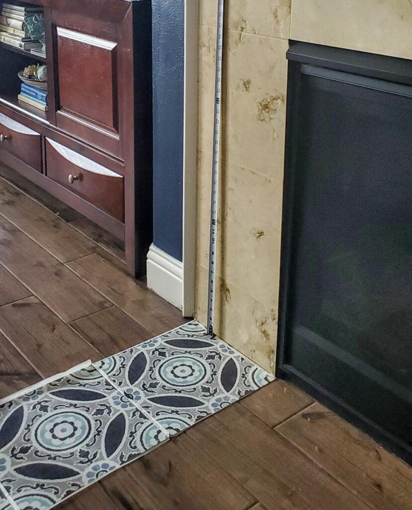 Floor pops tile layout