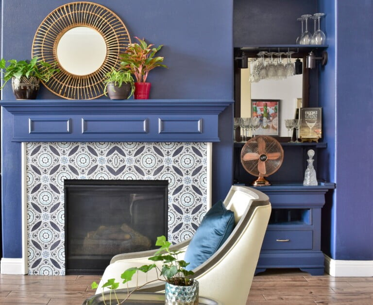 Gorgeous Fireplace Makeover on a Budget!