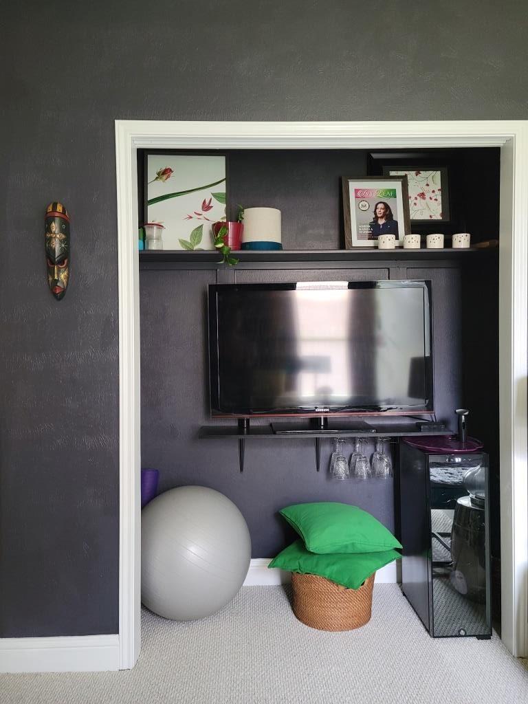 Ladies Lounge interior design reveal for small space design ideas