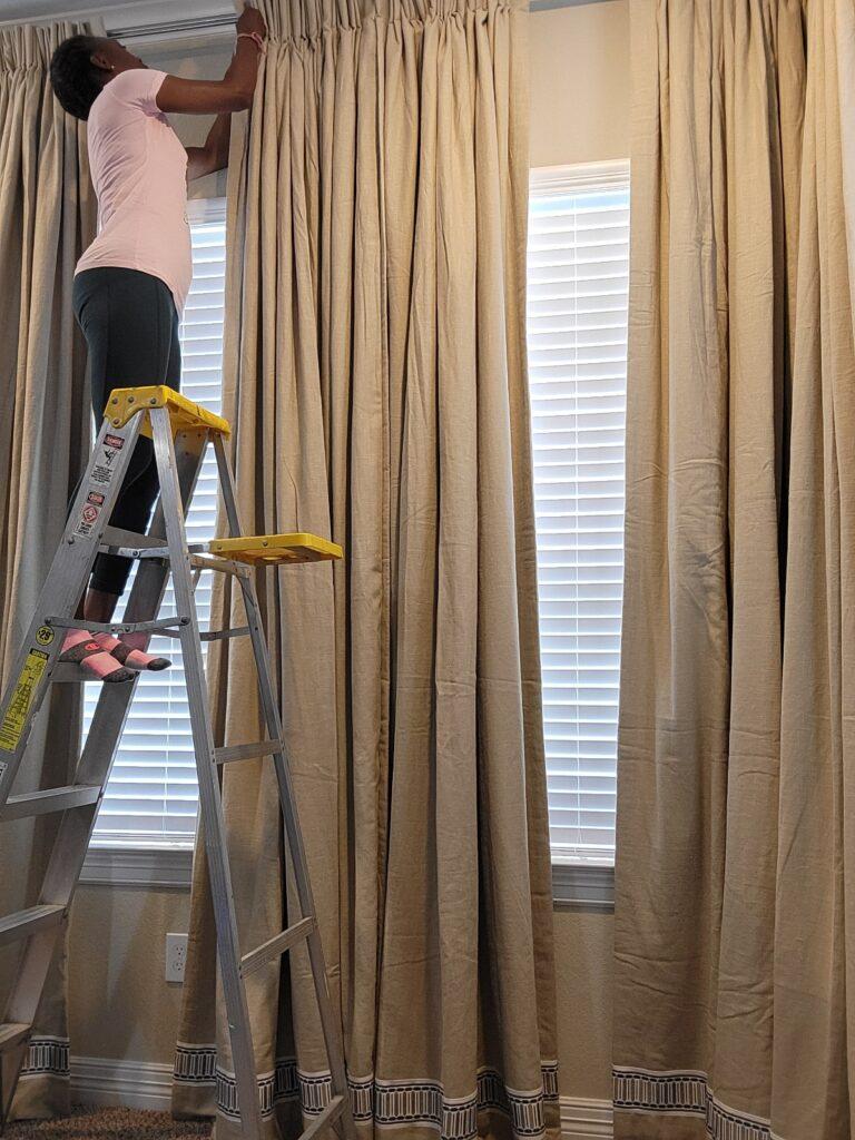 installing custom window trearments